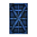 Rusty Shipping Container - blue Wall Decal