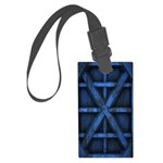 Rusty Shipping Container - blue Luggage Tag