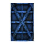 Rusty Shipping Container - blue 3'x5' Area Rug