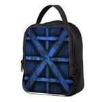 Rusty Shipping Container - blue Neoprene Lunch Bag
