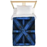 Rusty Shipping Container - blue Twin Duvet
