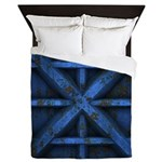 Rusty Shipping Container - blue Queen Duvet
