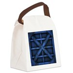 Rusty Shipping Container - blue Canvas Lunch Bag