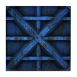Rusty Shipping Container - blue Tile Coaster