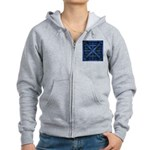 Rusty Shipping Container - blue Zip Hoodie
