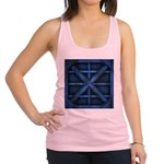 Rusty Shipping Container - blue Racerback Tank Top