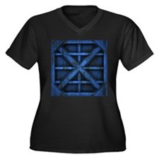 Rusty Shipping Container - blue Plus Size T-Shirt