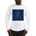 Rusty Shipping Container - blue Long Sleeve T-Shir