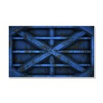 Rusty Shipping Container - blue Car Magnet 20 x 12