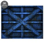 Rusty Shipping Container - blue Puzzle