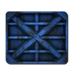 Rusty Shipping Container - blue Mousepad