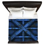 Rusty Shipping Container - blue King Duvet