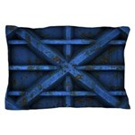Rusty Shipping Container - blue Pillow Case