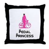 BikeChick Pedal Princess Throw Pillow