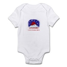 I love snowball fights Infant Bodysuit