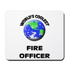 World's Coolest Fire Officer Mousepad