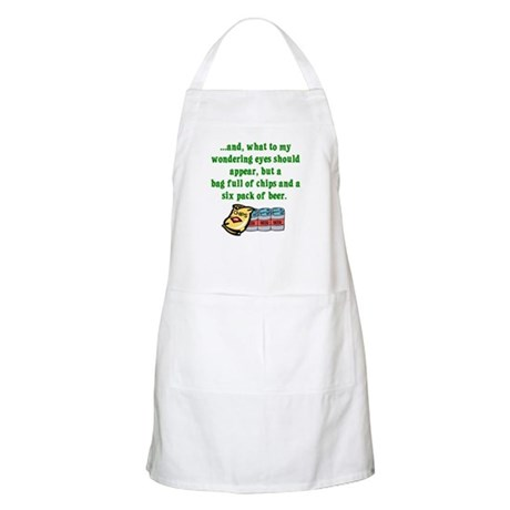 Christmas Poem for Men BBQ Apron