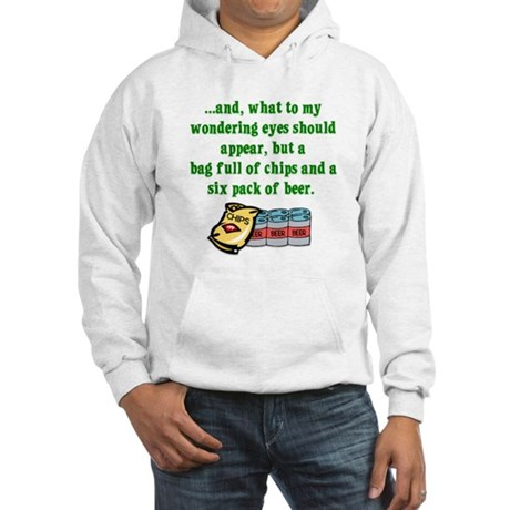 Christmas Poem for Men Hooded Sweatshirt