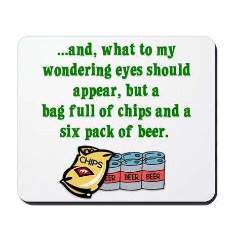 Christmas Poem for Men Mousepad