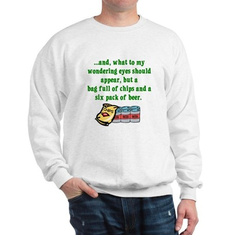 Christmas Poem for Men Sweatshirt