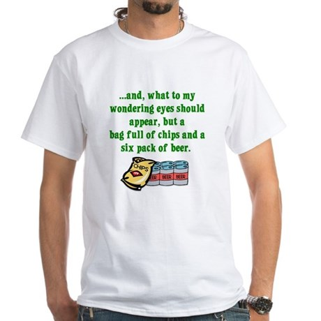 Christmas Poem for Men White T-Shirt