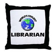 World's Coolest Librarian Throw Pillow