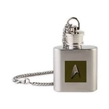 Star Trek Gold Command Flask Necklace