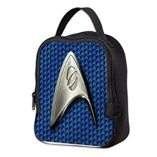 Star Trek Blue Scie... Neoprene Lunch Bag
