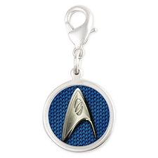 Star Trek Blue Sciences Silver Round Charm