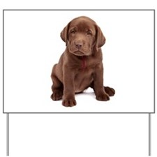 Chocolate Labrador Puppy Yard Sign