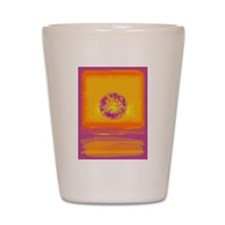 Colorfield Sunset Shot Glass