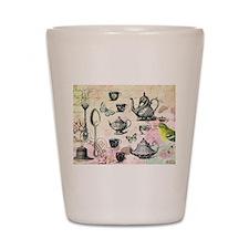 Vintage French Garden tea party Shot Glass