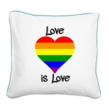 Love Is Love Square Canvas Pillow