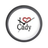 I Heart Cady Wall Clock