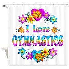 I Love Gymnastics Shower Curtain