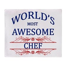 World's Most Awesome Chef Throw Blanket