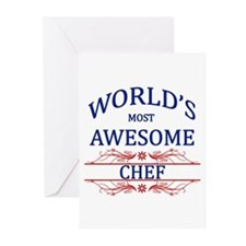 World's Most Awesome Chef Greeting Cards (Pk of 20