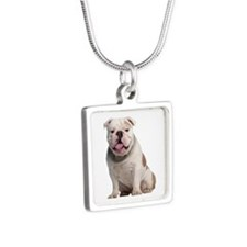 Bulldog Silver Square Necklace