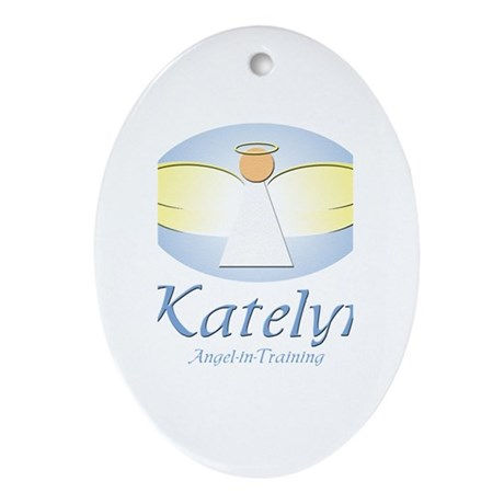 Angel-in-Training - Katelyn Oval Ornament