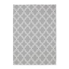 Light Gray Moroccan Quatrefoil 5'x7'Area Rug