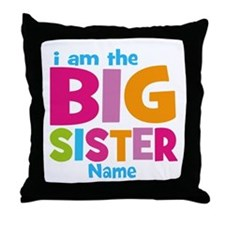 Big Sister Personalized Throw Pillow