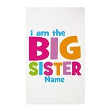 Big Sister Personalized 3'x5' Area Rug