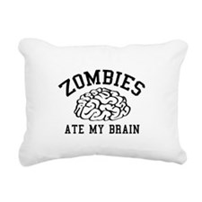 Zombies Ate My Brain Rectangular Canvas Pillow