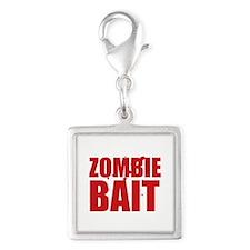 Zombie Bait Silver Square Charm