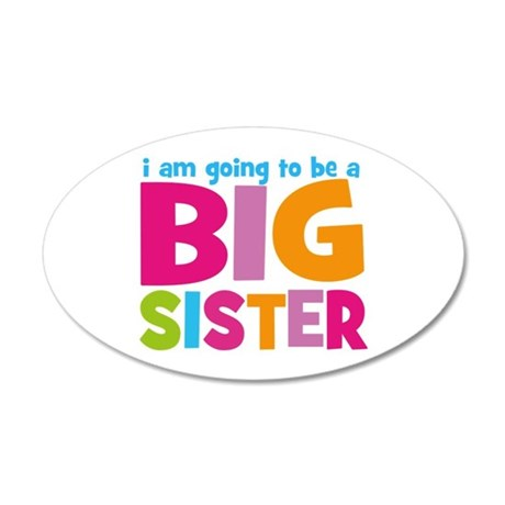 Big Sister Personalized 35x21 Oval Wall Decal