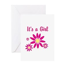 Its a Girl Greeting Card