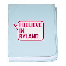 I Believe In Ryland baby blanket