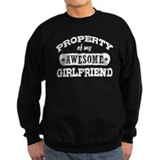 Property Of My Awesome Girlfriend Sweatshirt