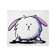 KiniArt Dust Bunny Throw Blanket