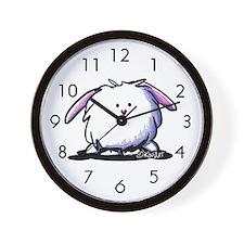 KiniArt Dust Bunny Wall Clock